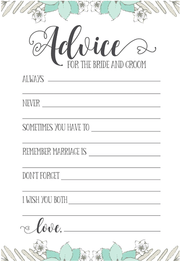 Best Wedding Advice Cards | King Props