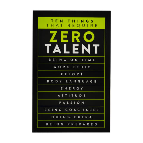 Sign About talent