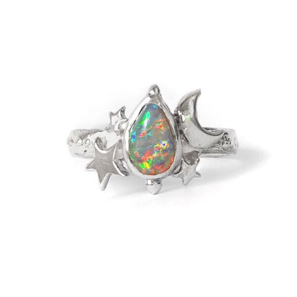 Milky Way Opal Ring