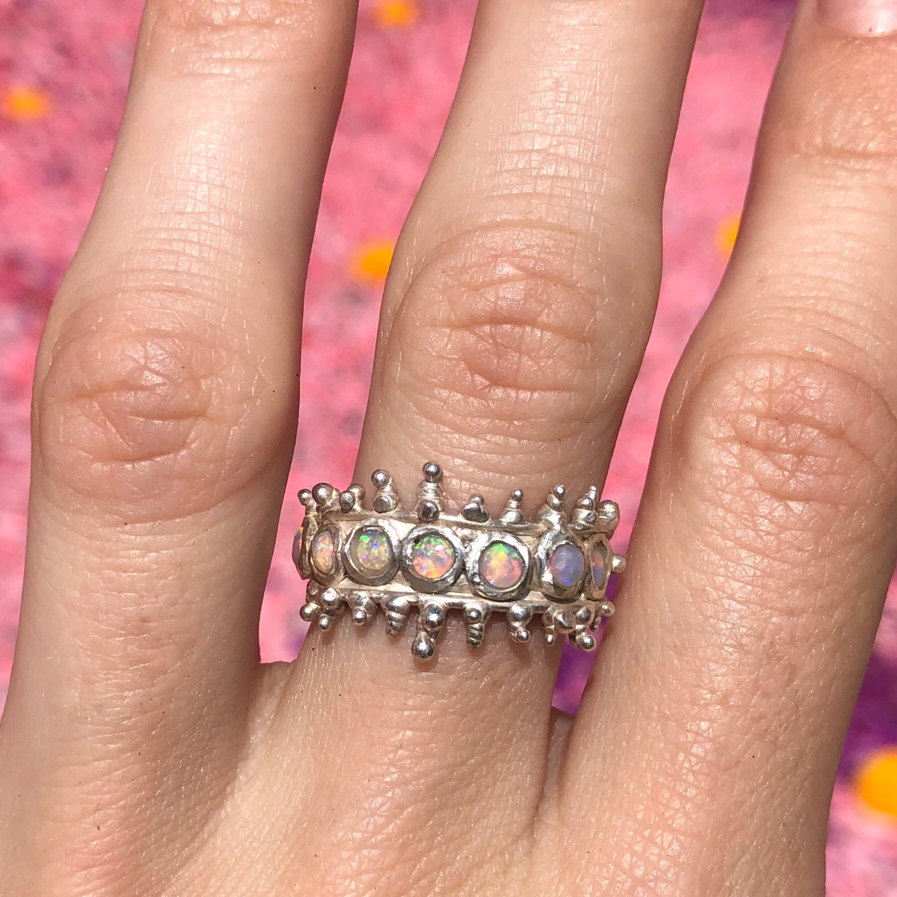 Blobby Spaceship Ring (available in silver or gold)