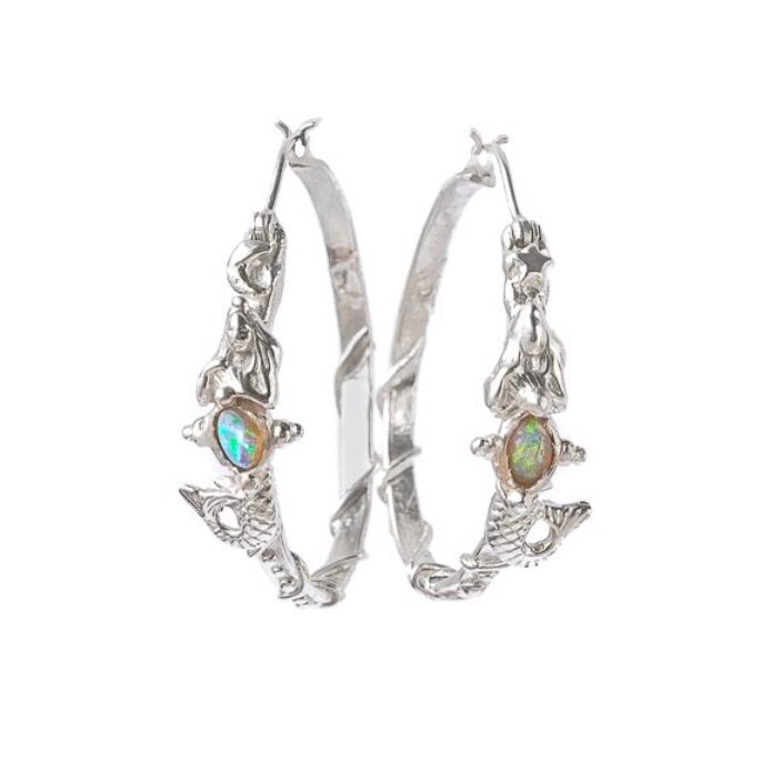 Opal Bellied Creature Hoops