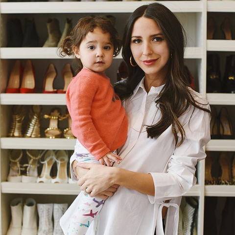 Arielle Charnas Something Navy Daughter Ruby Airplane Leggings NYC Fashion Influencer Instagram Blogger