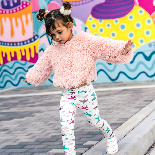 Smarty Girl Boyish Designs for Girly Girls Organic Toddler Leggings