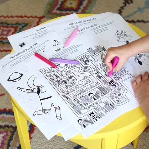 Smarty Girl brand leggings Kickstarter reward printable activity book