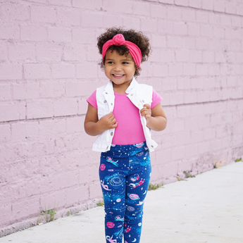 Girls astronaut clothes girl space clothing astronauts leggings toddler kids pants planet galaxy star rocket moon spaceship NASA astronomy Smarty Girl science STEM kid children child baby scientist girly pants dog cat smart geek nerd costume pink purple blue pima cotton Peru