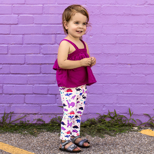 521858bbd9f5 Organic Dinosaur Print Leggings for Toddler Girls – Smarty Girl & Co.