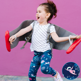 Space clothes for girls astronaut girl clothing astronauts girly leggings outer toddler pants kids planet galaxy star rocket moon spaceship NASA astronomy science STEM kid children child baby dog cat smart geek nerd solar system sky party gift costume pink purple nerdy geeky smart Peru