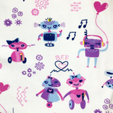 Girls robot clothes girl robots clothing leggings pants robotics Smarty Girl code coding programming science STEM clothes pima cotton Peru Peruvian girly pants engineering technology smart geek nerd pink purple BFF kids children child kid