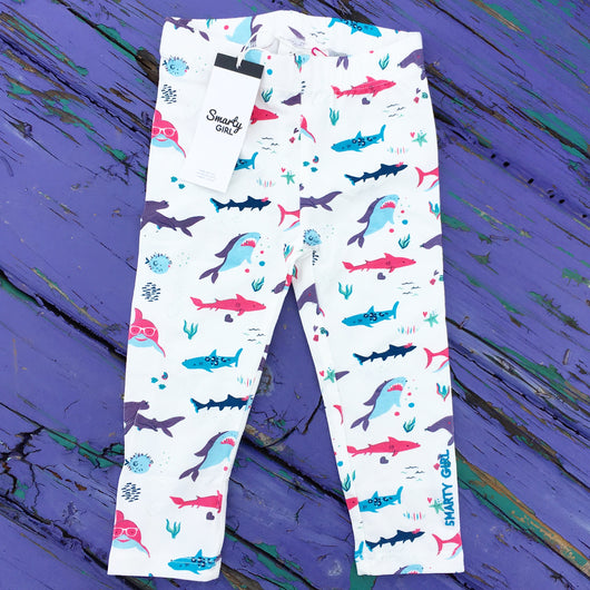 fb4b0bbd2 ... clothes girly sharks clothing for girls Smarty Girl leggings pink  purple science STEM smart geek · Girly shark leggings for toddler girls by Smarty  Girl ...