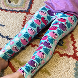 Sloth leggings sloths girls clothing girl clothes pants shirt tshirt dress pink purple girly science STEM biology biologist kid kids child children baby toddler smart geek nerd nerdy geeky tropical jungle rainforest birthday party theme gift pima Peru