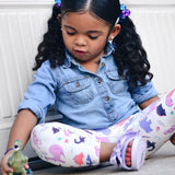 Dinosaur leggings for toddler girls by Smarty Girl