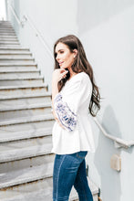 Maya Embroidered Sleeve Top - Westwynd Boutique