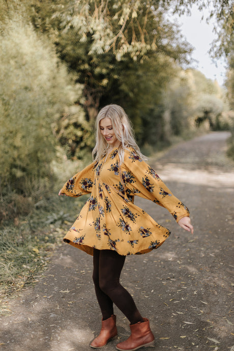 Arabella Dress in Honey - Westwynd Boutique