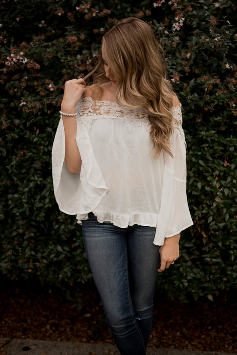 Lilah Lace Detail Top - Westwynd Boutique