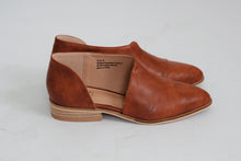 Charlotte Open Side Flats in Mahogany - Westwynd Boutique