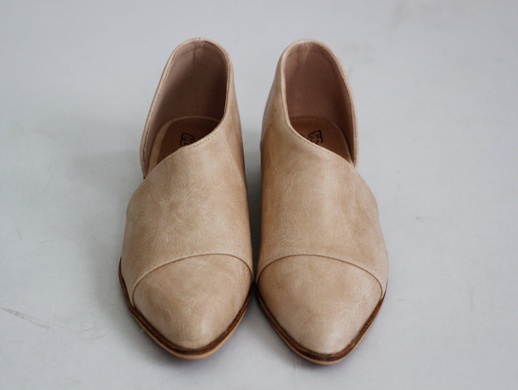 Charlotte Open Side Flats in Nude - Westwynd Boutique