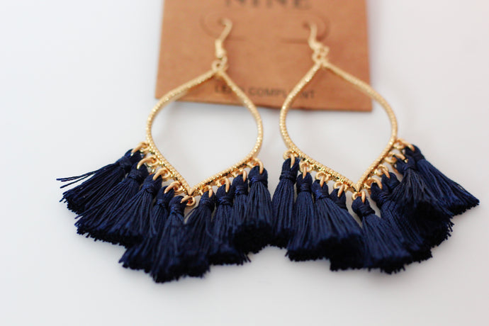 Camry Earrings in Navy - Westwynd Boutique