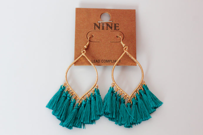 Camry Earrings in Teal - Westwynd Boutique