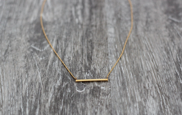 Adella Bar Necklace in Gold - Westwynd Boutique