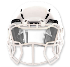 ***USED*** CLEAR Football Visor - EliteTek.com