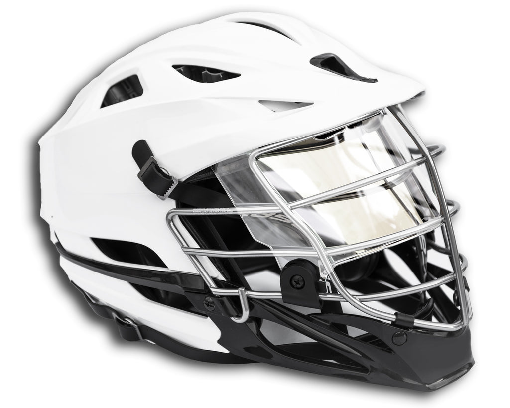 ***USED*** EliteTek CLEAR Visor for Football and Lax Lacrosse - Fits Youth and Adult - EliteTek.com