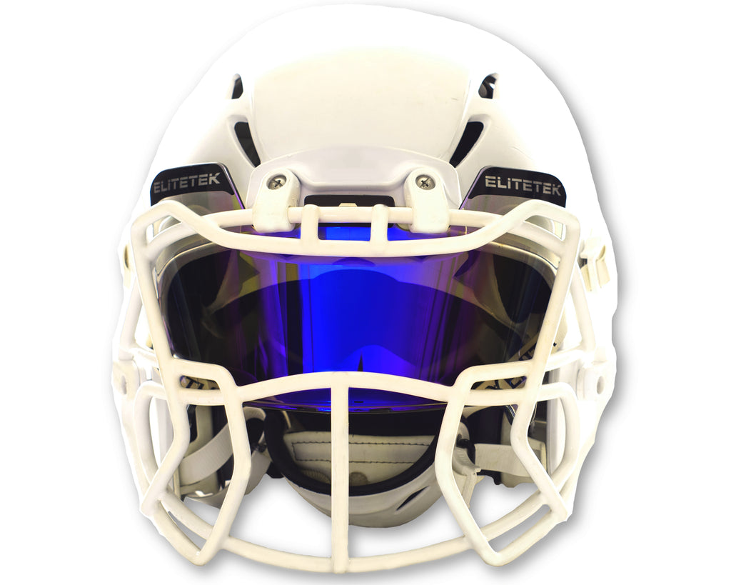 ***USED***  COLOR Football & Lacrosse Eye-Shield Facemask Visor - Fits Youth & Adult Helmets - EliteTek.com