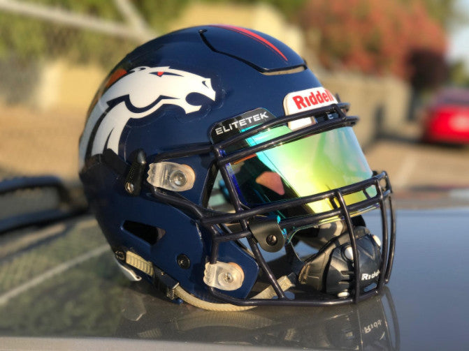 ***USED***  PRIZM Football & Lacrosse Eye-Shield Facemask Visor by EliteTek - Fits Youth & Adult Helmets - EliteTek.com