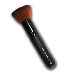 Brown Faux Jumbo Flat Top Brush