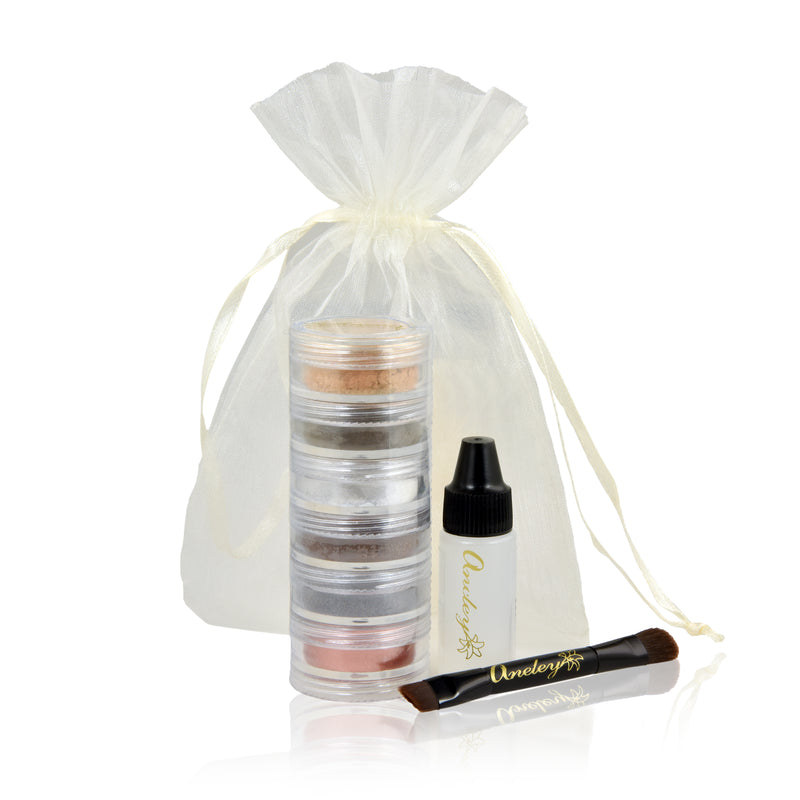 Natural Mineral Sparkle Eye Shadow 6 Shade Stack Gift Set