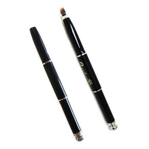 Retractable Angled Eyeliner Brush