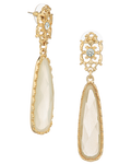 Victorian Cream Drop Earrings - $9 ea (6pk)