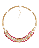 Blushing Rose Statement Necklace