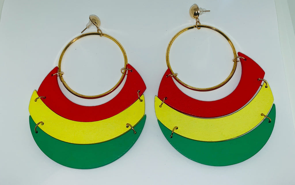 Gold Tri-Color Hoops