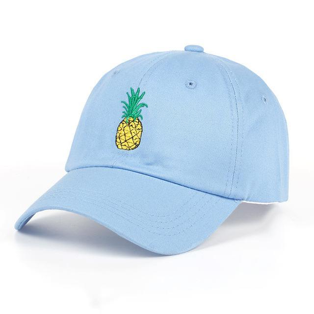 ShopiHub Baseball Caps Sky Blue Pineapple Hat
