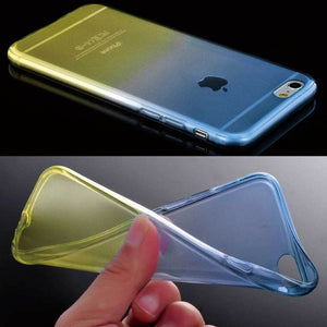 ShopiHub Blue Yellow / For iPhone 6 6S Soft Transparent Gradient Case For iPhones