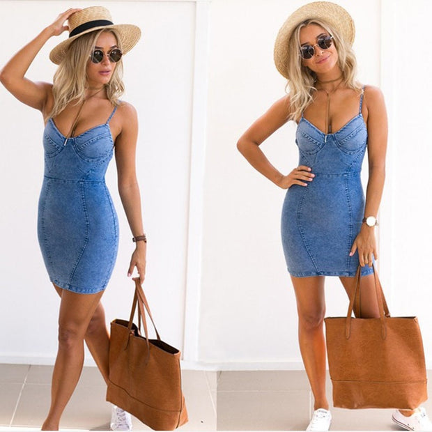 ShopiHub Denim Summer Dress