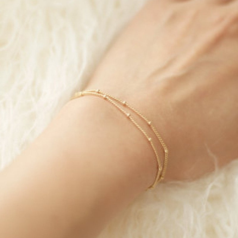 ShopiHub Gold Tiny Bangles Bracelet
