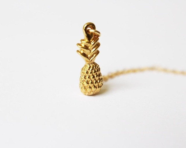ShopiHub GOLD Tiny Pineapple Necklace