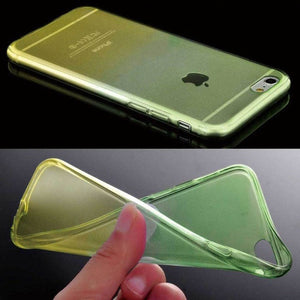 ShopiHub Green Yellow / For iPhone 6 6S Soft Transparent Gradient Case For iPhones