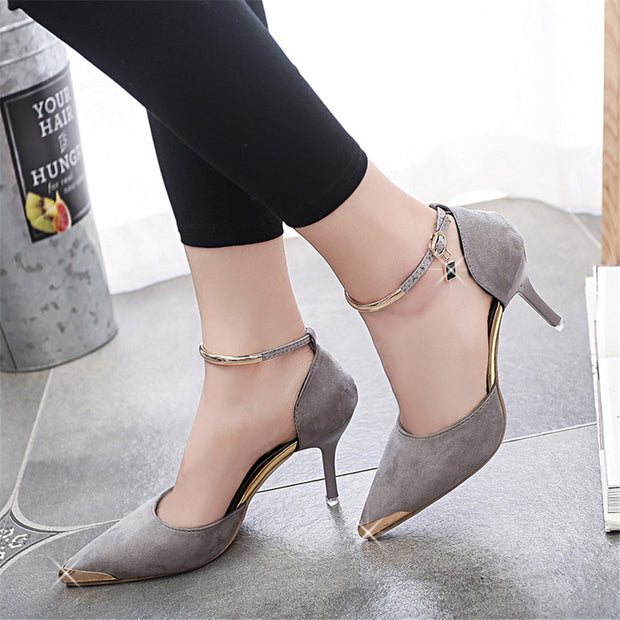 ShopiHub High Heels Metal Toe