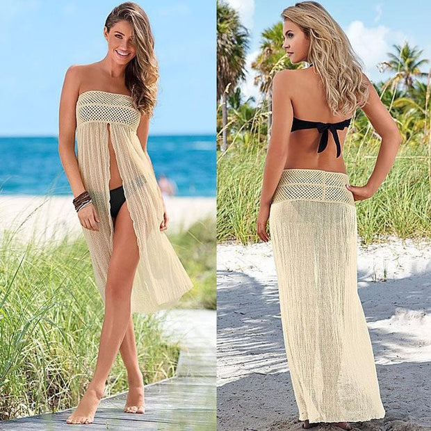 ShopiHub Hollow Out Beach Cover Up
