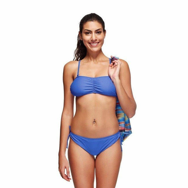 ShopiHub LS018 / S Blue 3 Pieces Set Swimwear