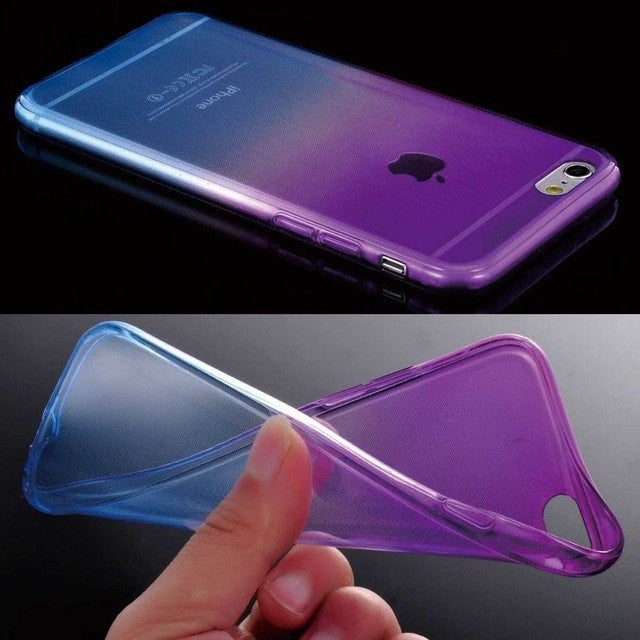 ShopiHub Purple Blue / For iPhone 6 6S Soft Transparent Gradient Case For iPhones
