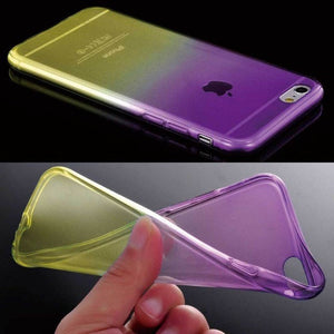 ShopiHub Purple Yellow / For iPhone 6 6S Soft Transparent Gradient Case For iPhones
