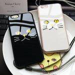 ShopiHub Reflective Cat Face Cases for iPhone