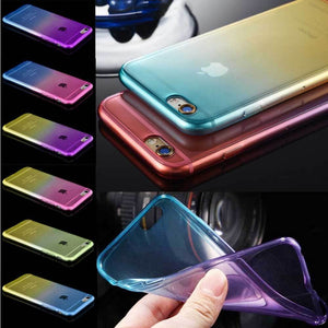 ShopiHub Soft Transparent Gradient Case For iPhones