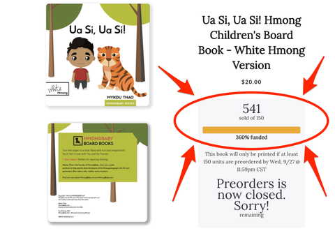 The White Hmong and Green Hmong children's books are going to print!