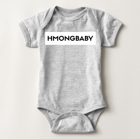HmongBaby White Out Onesie
