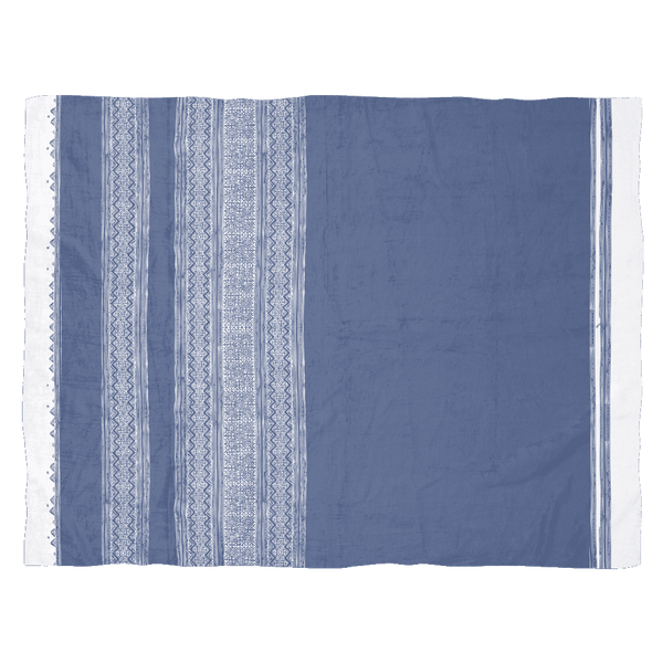 Dusty Blue Batik Fleece Blanket