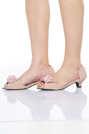 Xelay Womens Floral See Through Transparent Sandals